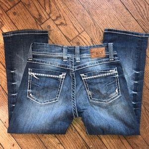 💙💎BKE Cropped Pretty Denim Jeans New